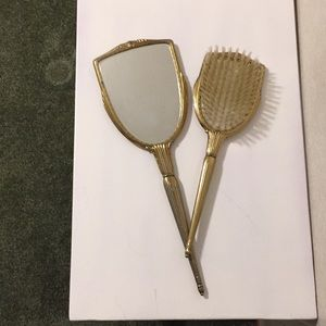 Other - Vintage mirror and brush set.